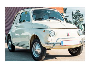 Fiat 500 - wit Arrezo
